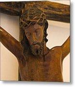 Jesus On The Cross Metal Print by Al Bourassa