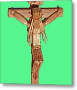 Jesus On The Cross In Mexico 1925 Metal Print