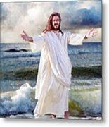 Jesus On The Sea Metal Print