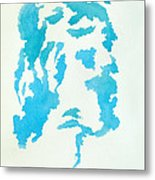 Jesus Profile Metal Print