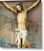 Jesus Statue At Latin Church In Taybeh Metal Print