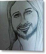 Jesus Sweet Smile Metal Print