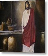 Jesus- The First Miracle- Metal Print