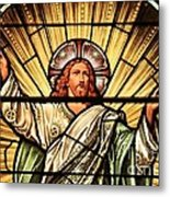 Jesus - The Light Of The Wold Metal Print