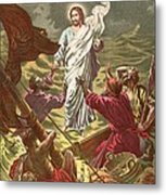 Jesus Walking On The Water Metal Print