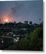Jesusita Wildfire Burn In The Distance Metal Print