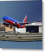 Jet Chicago Airplanes 12 Out Of Bounds Metal Print