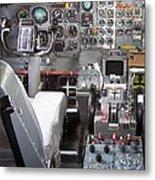 Jet Cockpit Metal Print
