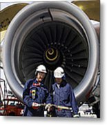 Jet Engine And Air Mechanics Metal Print