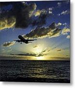 jetBlue landing at St. Maarten Metal Print