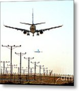 Jets Coming And Going Metal Print
