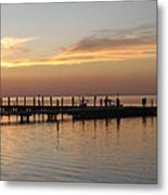 Jetty In The Eveninglight Metal Print