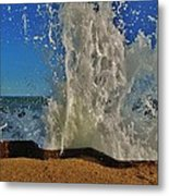 Jetty Splash 8 10/1 Metal Print