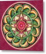 Jewel Of The Heart Mandala Metal Print