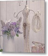 Jewellery And Pearls Metal Print by Amanda Elwell