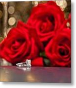 Jewelry And Roses Metal Print