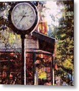 Jewelry Square Clock Milford  Metal Print