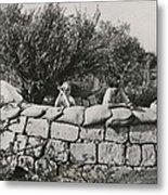 Jews Guard Their Settlement Metal Print