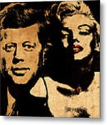 Jfk And Marilyn Metal Print