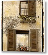 Orvieto Window Polaroid Metal Print