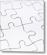 Jigsaw Puzzle Blank Metal Print