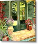 Jill's Patio Metal Print