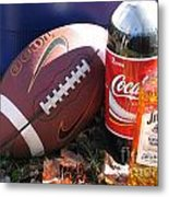 Jim Beam Coke And Football Metal Print