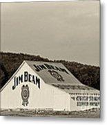 Jim Beam - D008291-bw Metal Print