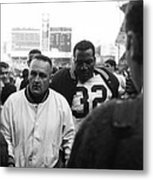 Jim Brown The Great Leaving The Field Metal Print by Retro Images Archive