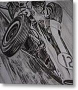 Jim Clark At Monaco 64 Metal Print