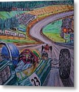 Jim Clark The King Of Spa Metal Print