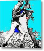 Jim Jeffries Jack Johnson Reno Nevada July 4th 1910-2010  Metal Print
