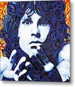 Jim Morrison Chuck Close Style Metal Print by Joshua Morton