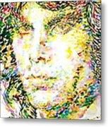 Jim Morrison Watercolor Portrait.2 Metal Print