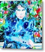 Jim Morrison Watercolor Portrait.3 Metal Print