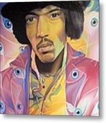 Jimi Hendrix Eyes Metal Print