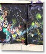 Jimi Hendrix Mural Metal Print by Erik Franco