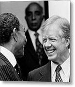 Jimmy Carter And Anwar Sadat 1980 Metal Print