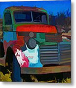 Jimmy In Taos - Abstract Metal Print
