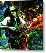 Jimmy Page - Led Zeppelin - Original Painting Print Metal Print