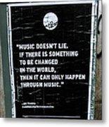 Jimy Hendrix Music Doesn't Lie Metal Print