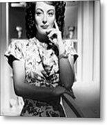 Joan Crawford, Ca. 1946 Metal Print