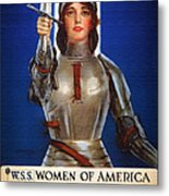 Joan Of Arc War Stamps Poster 1918 Metal Print