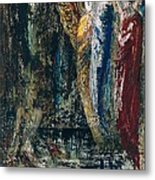 Job And The Angels Metal Print by Gustave Moreau