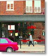 Joblo Restaurant Steakhouse Rue Wellington Verdun Montreal Cafe City Scenes Carole Spandau Metal Print