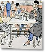 Jockey And Trainers In The Bar Metal Print