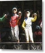 Jockeys In A Row Metal Print