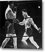 Joe Louis Right In Boxing Match Metal Print