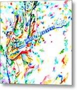 Joe Strummer Playing Live Metal Print