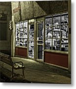 Joe's Barber Shop Metal Print